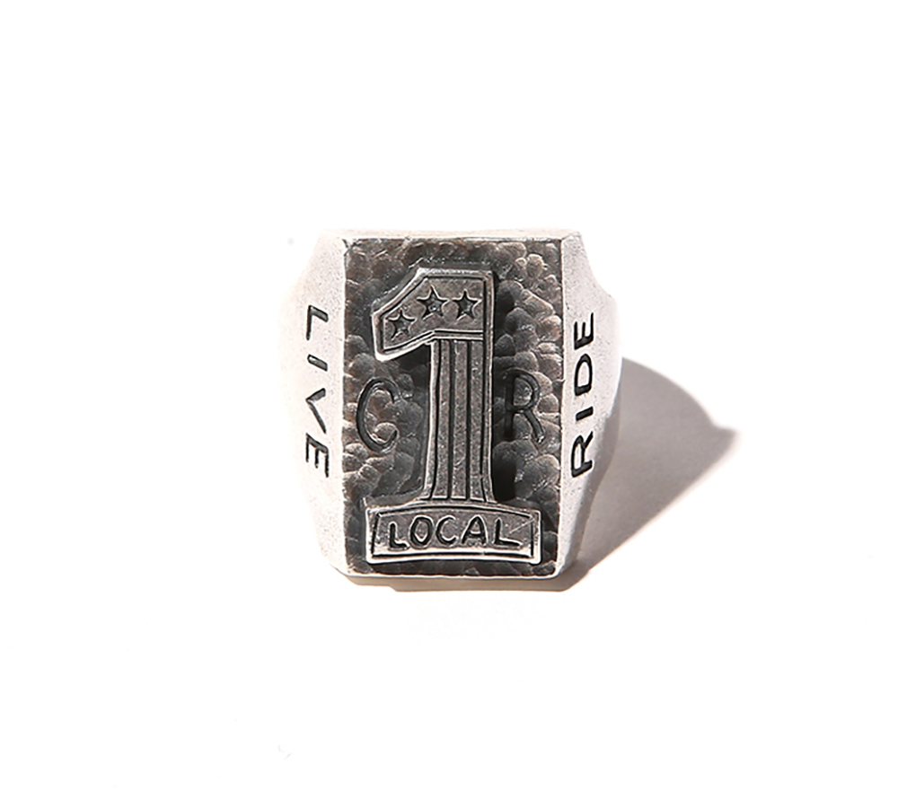 No.1LOGO BIKER RING <SILVER925>