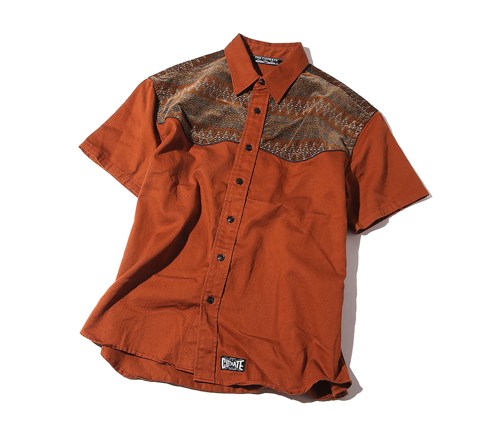 S/S COTTON TWILL WESTERN SHIRT