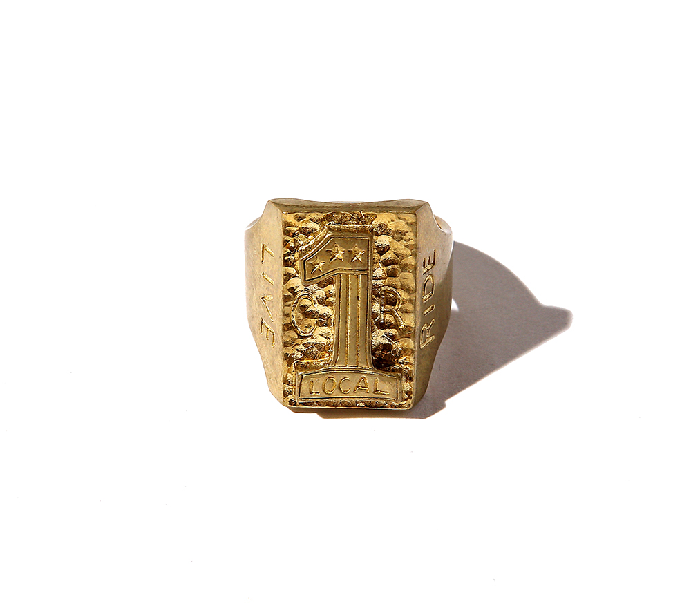 No.1LOGO BIKER RING <BRASS>