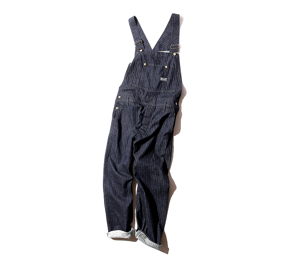 DENIM HERRINGBONE OVERALL