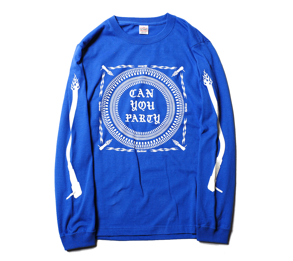 CAN YOU PARTY L/S PRINT T-SHIRT