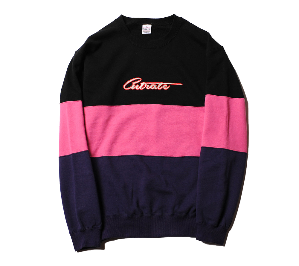 CRAZY PATTERN CREW NECK SWEAT
