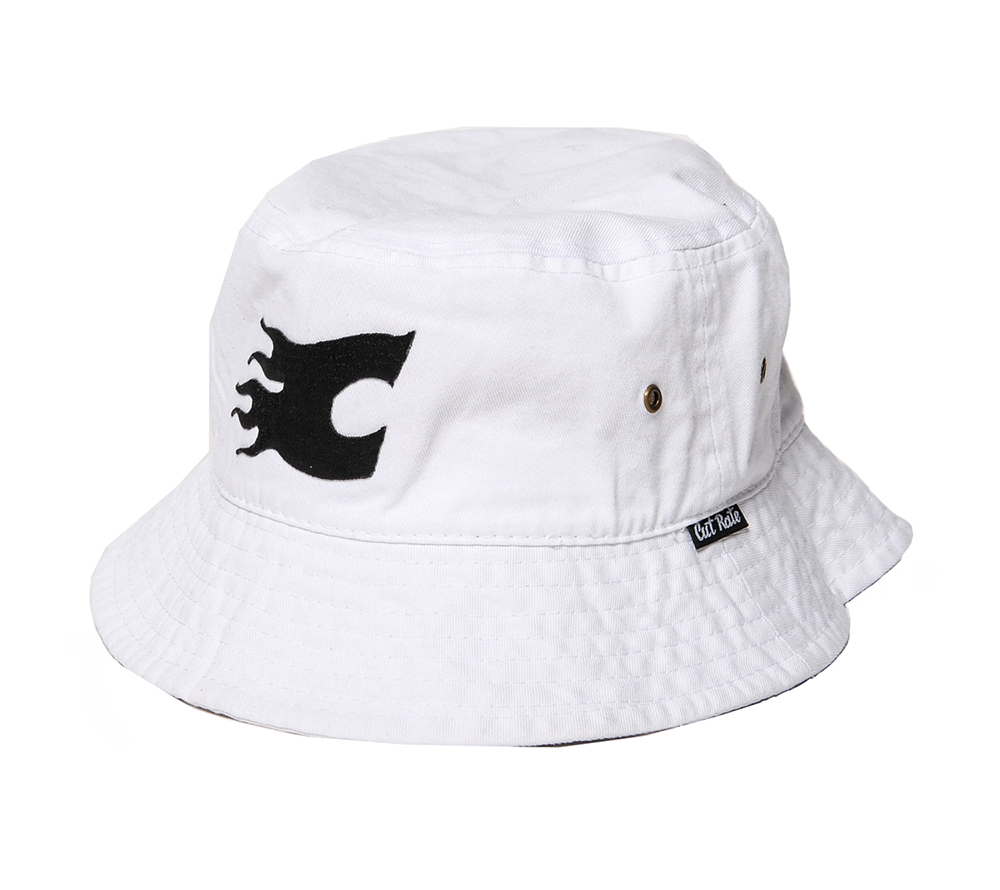 FLAME LOGO EMBROIDERY BUCKET HAT