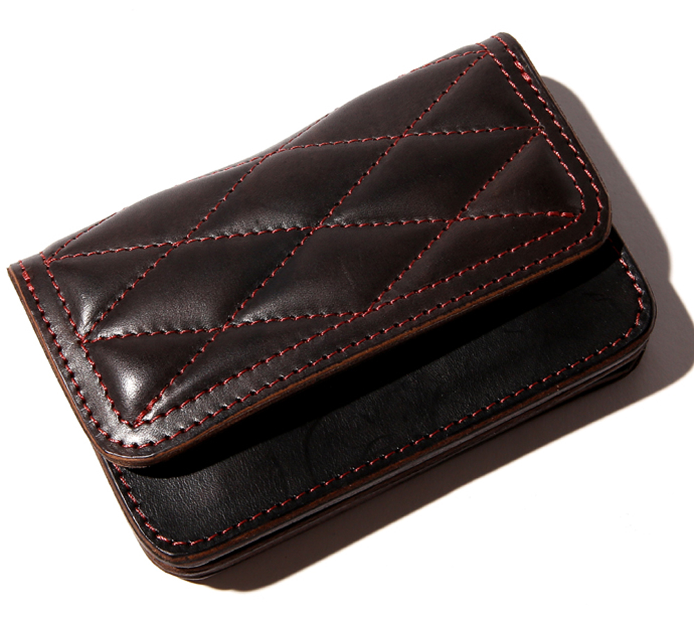 QUILTING LEATHER SHORT WALLET