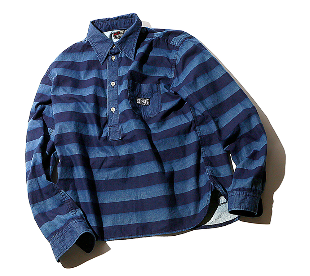L/S BORDER DENIM SHIRT