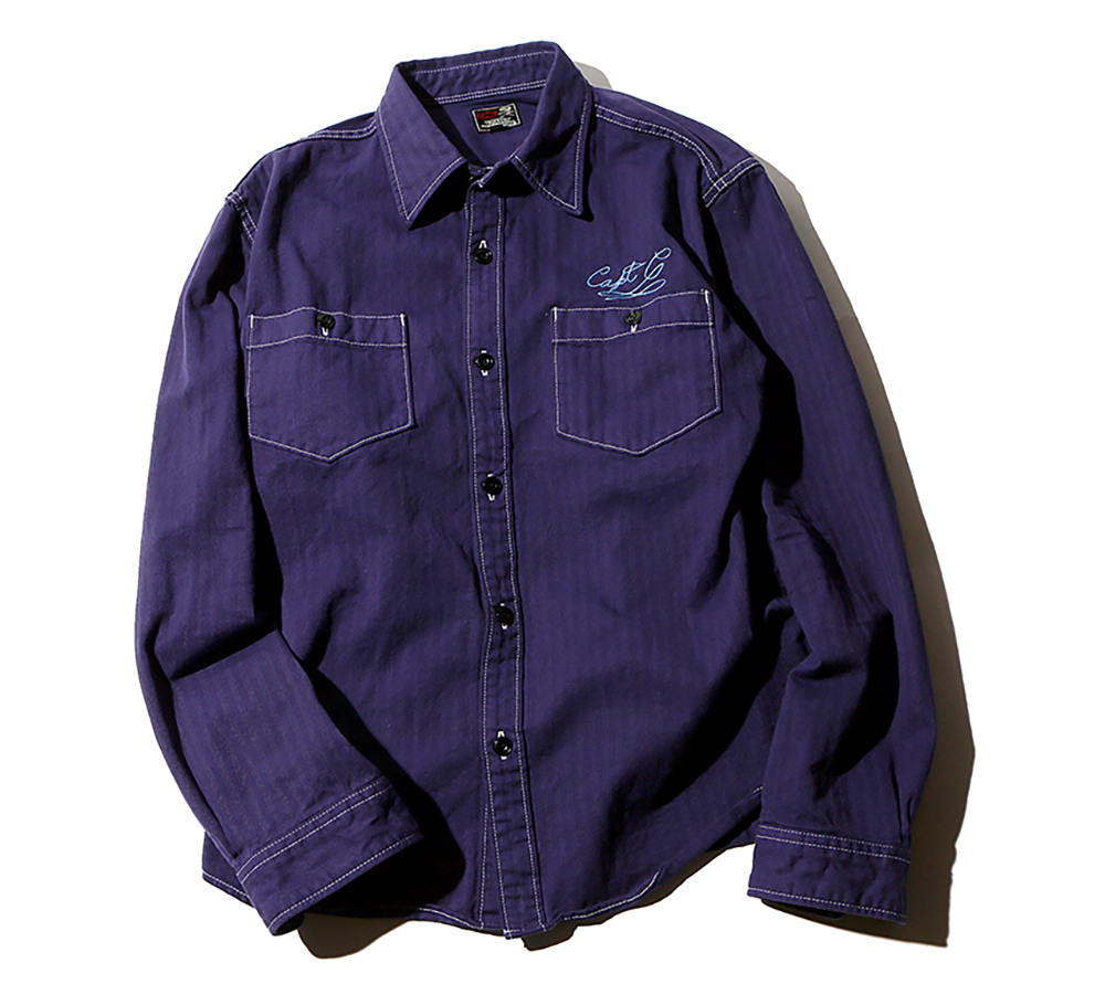 L/S HERRINGBONE WORK SHIRT