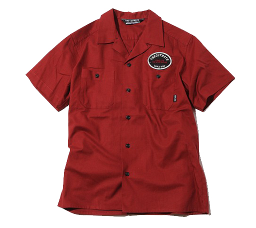 S/S EMBROIDERY WORK SHIRT