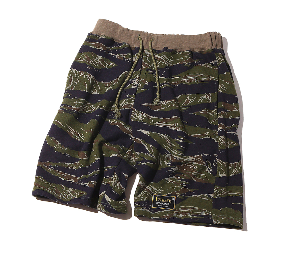 CAMO SWEAT SHORT PANTS