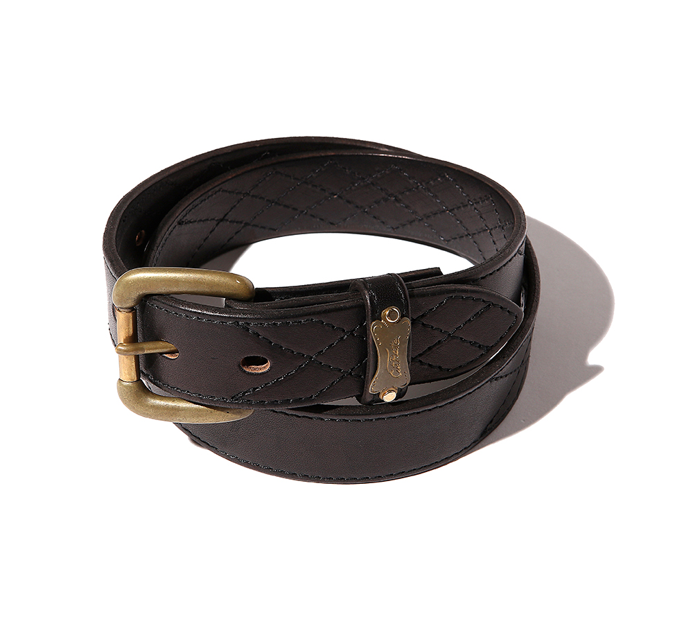 QUILT STITCH LEATHER BELT