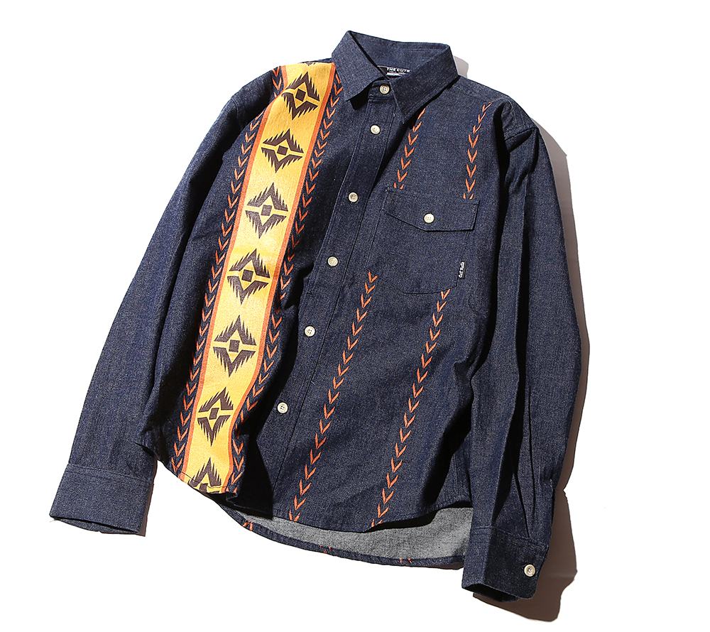 L/S DENIM NATIVE SHIRT