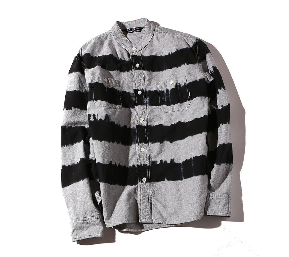 L/S TIE DYE BORDER OXFORD SHIRT