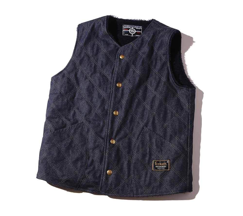 QUILTING DENIM VEST