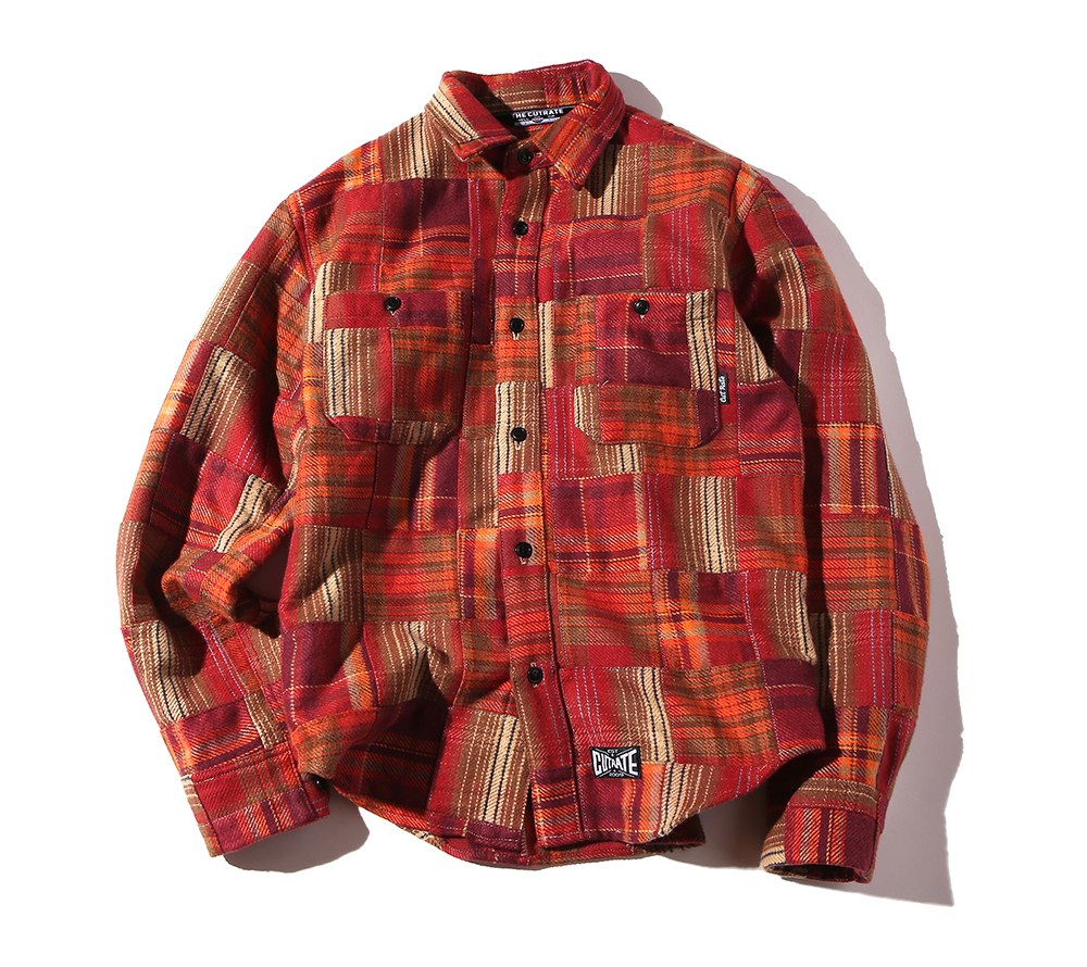 L/S PATCHWORK CHECK SHIRT