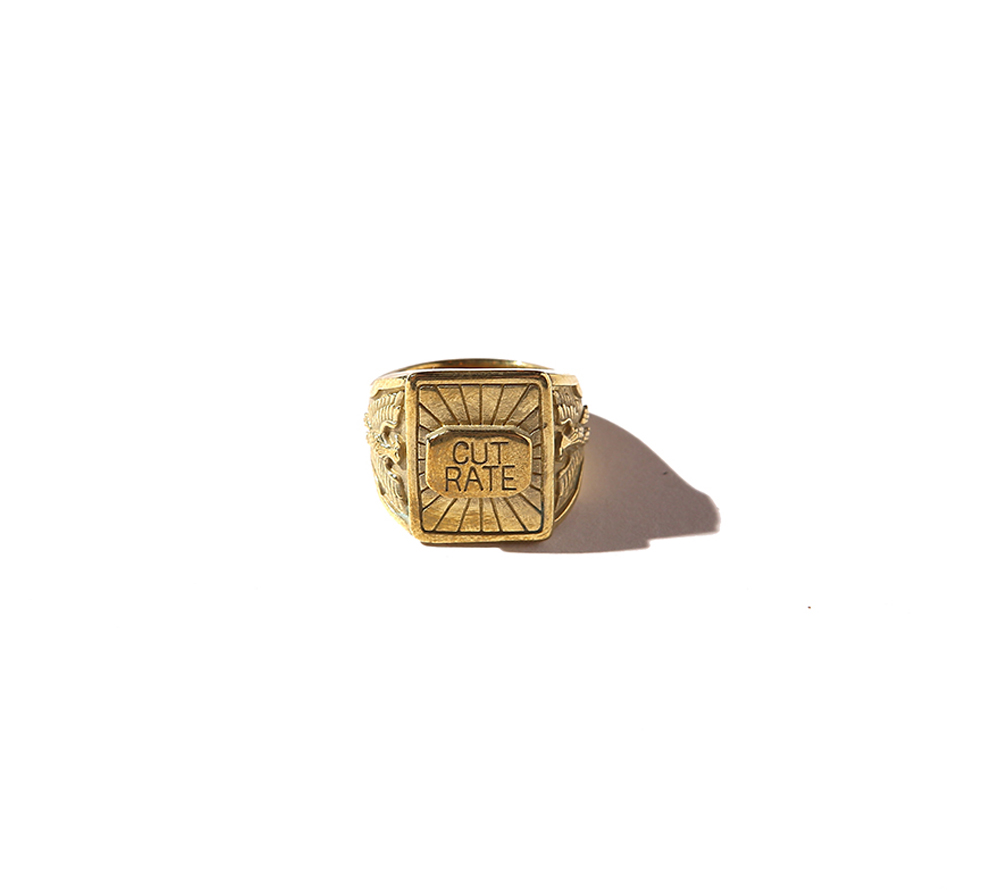 BRASS LOGO RING