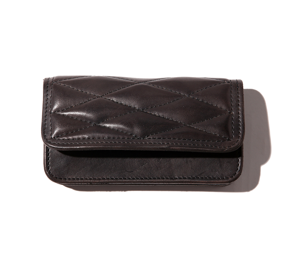 QUILTING LEATHER LONG WALLET