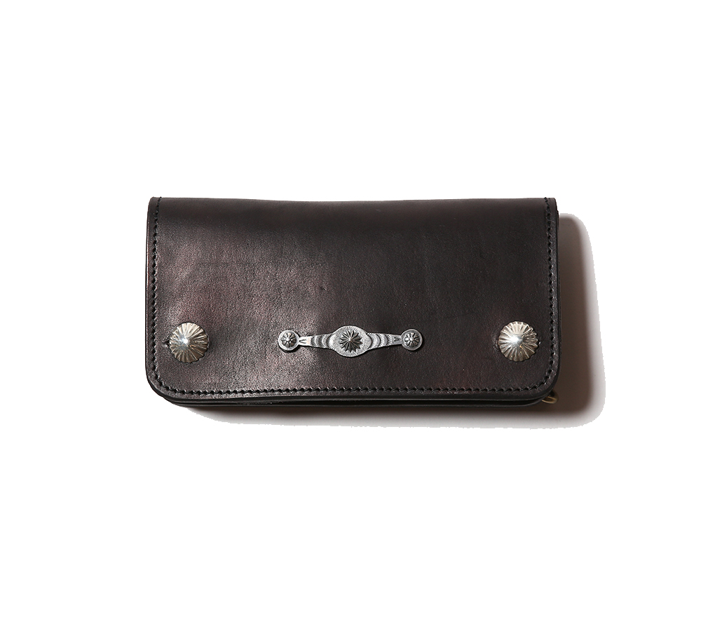 CONCHO PLATE LEATHER WALLET
