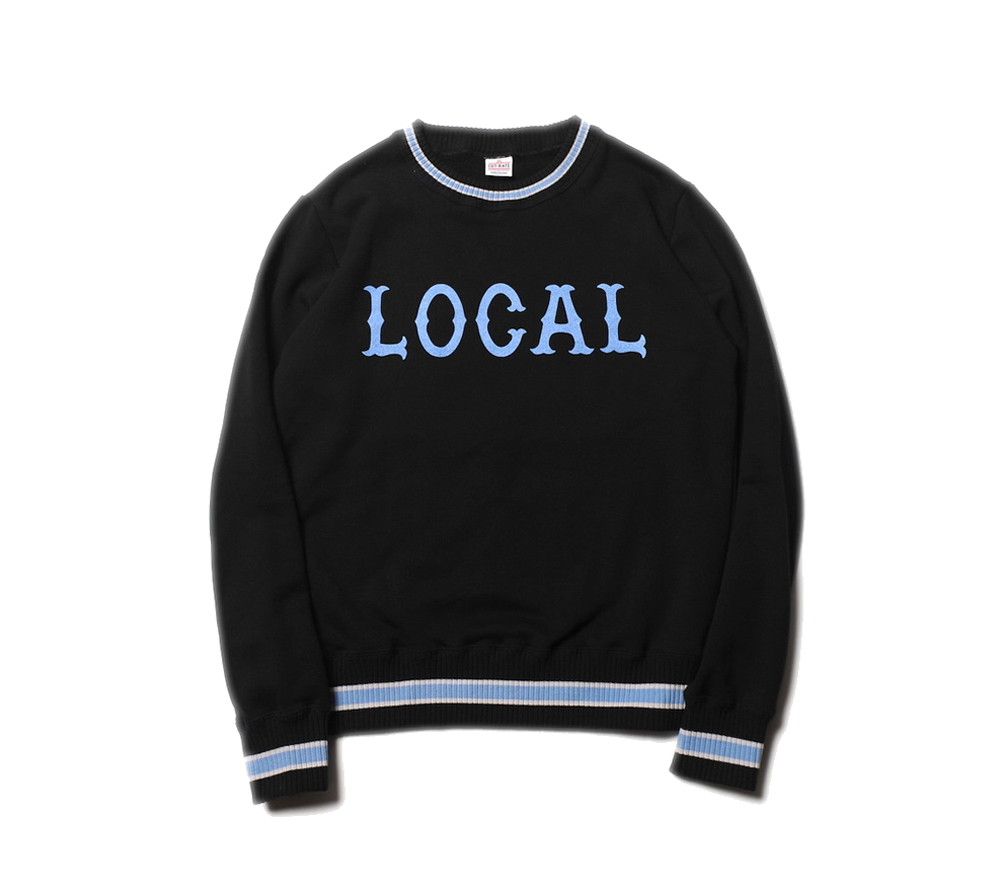 LINE RIB CREW NECK LOCAL SWEAT