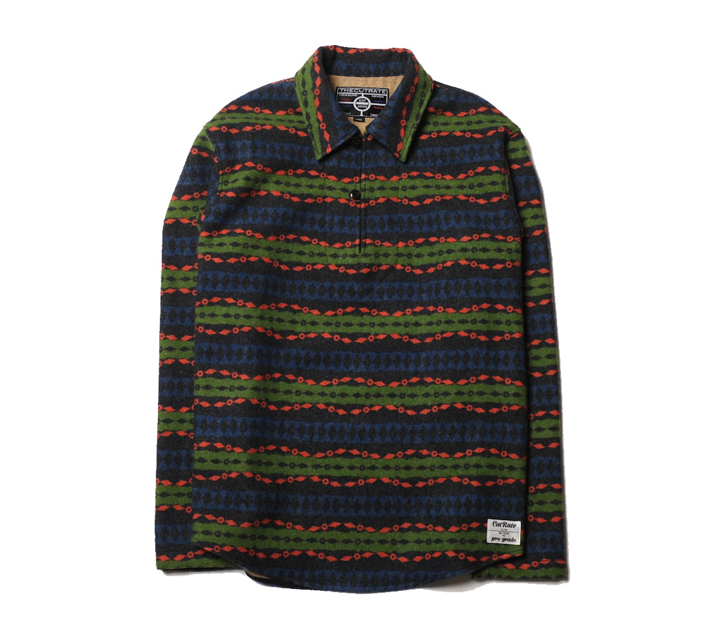 PULLOVER NATIVE BORDER L/S SHIRT