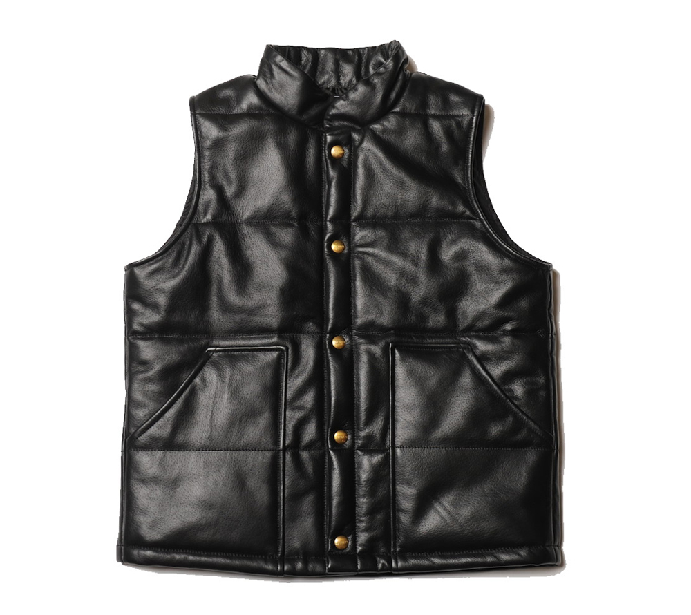 QUILTING LEATHER VEST