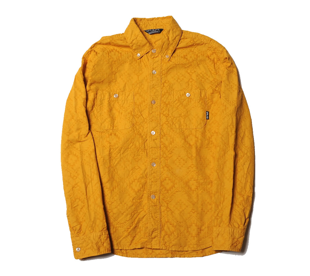 NATIVE PATTERN L/S B.D SHIRT