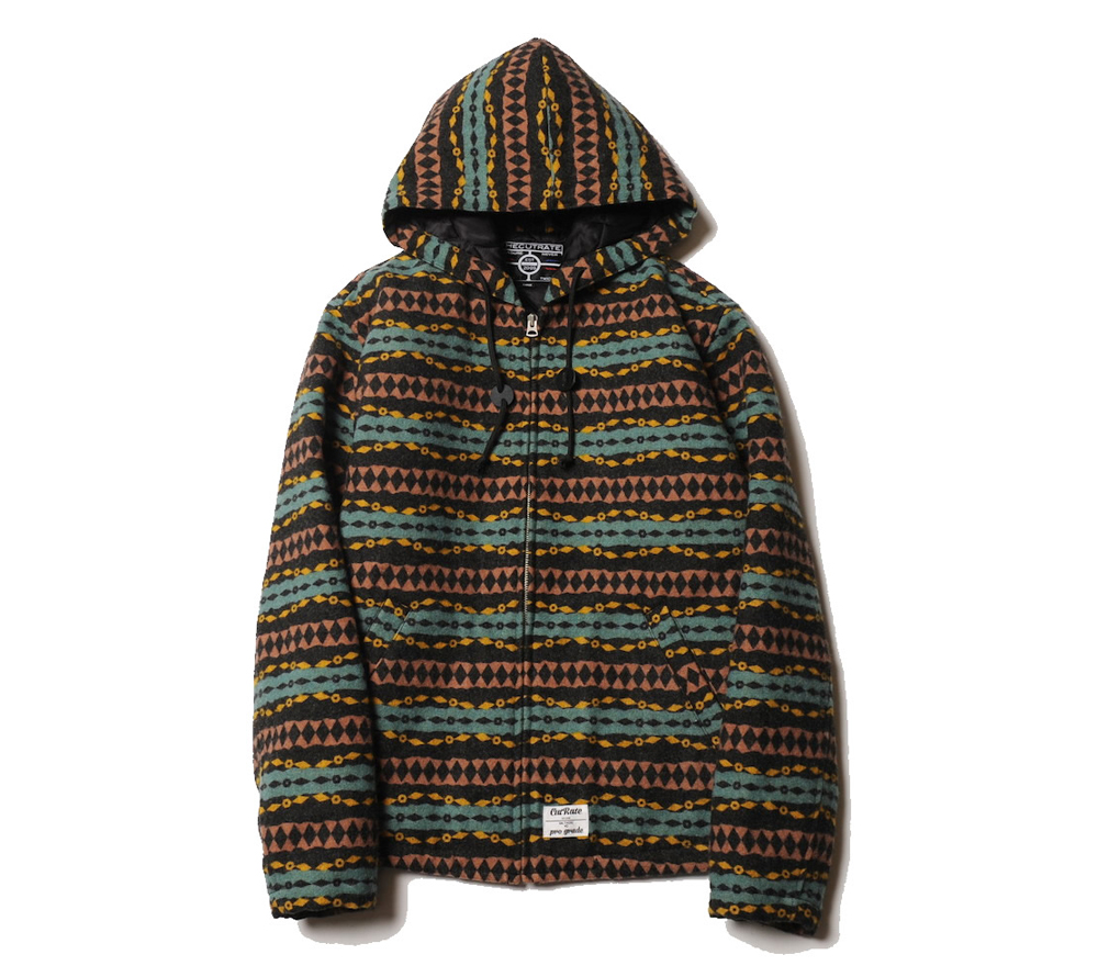 NATIVE BORDER HOODED JACKET