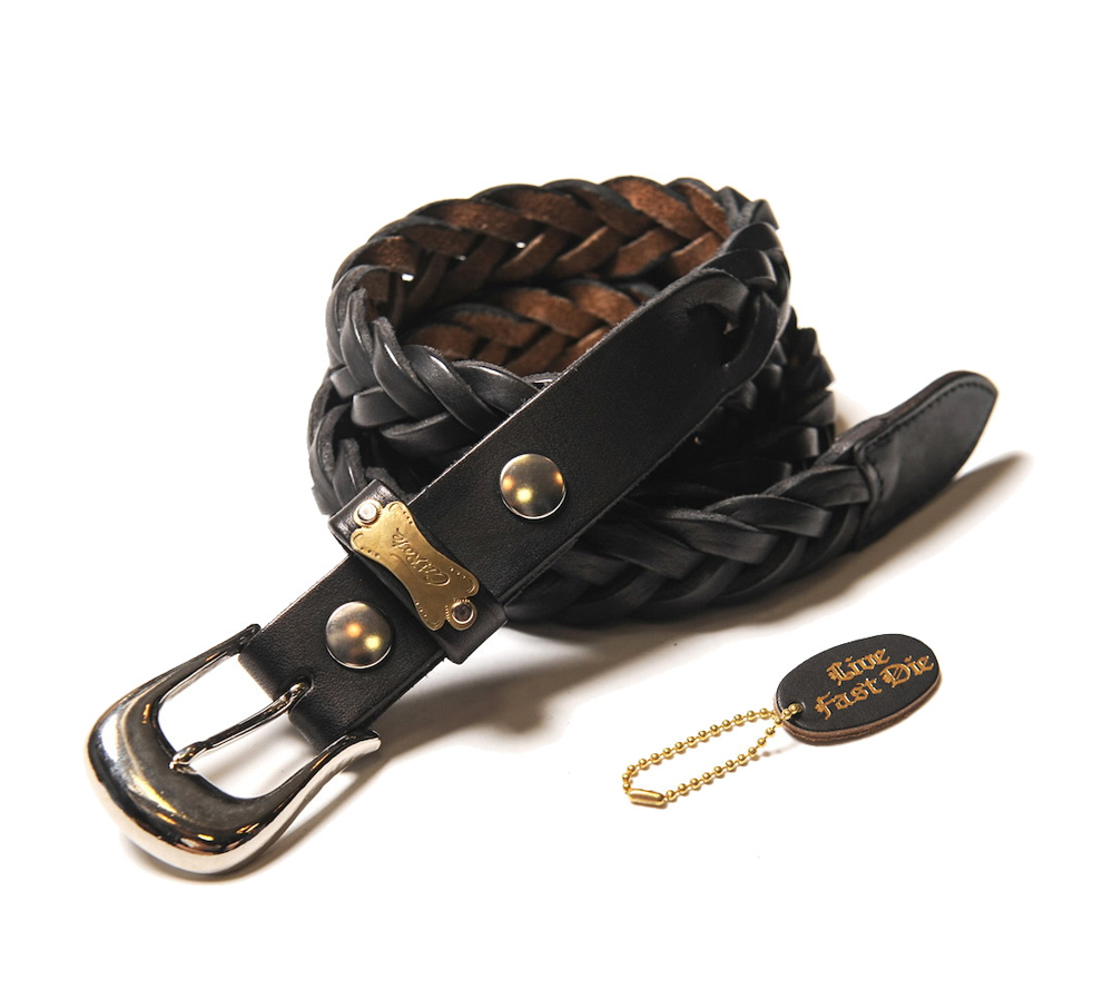 KNITTING LEATHER BELT