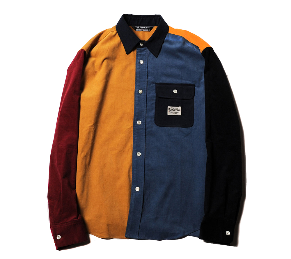 L/S CRAZY PATTERN CORDUROY SHIRT