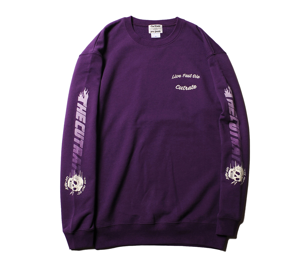 SLEAVE PRINT CREW NECK SWEAT