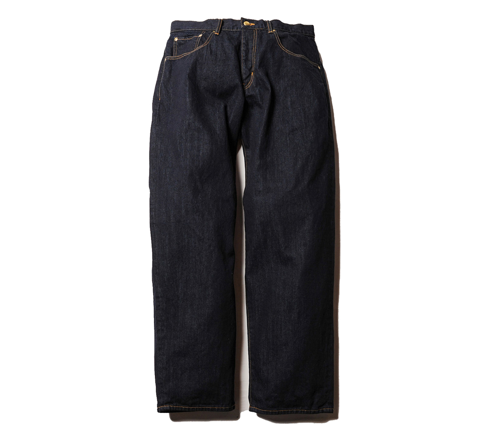 TAPERED WIDE DENIM PANTS