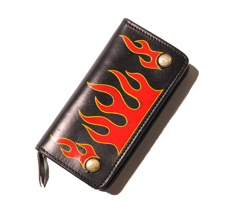 FLAME PAINT LEATHER WALLET