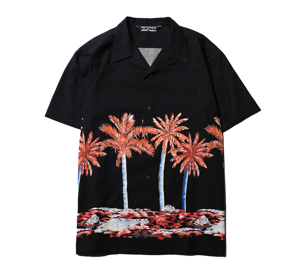 HAWAIIAN PATTERN S/S SHIRT