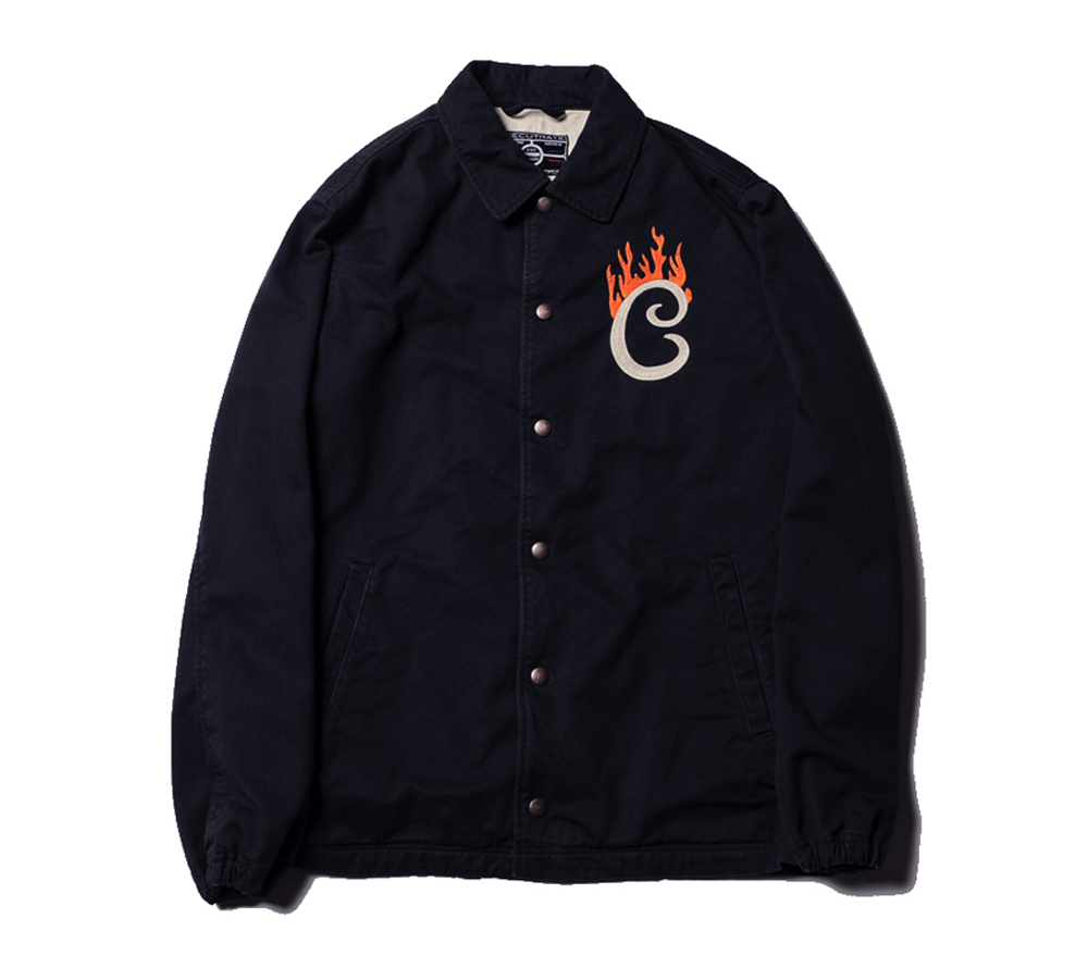 FLAME LOGO COTTON COACH JACKET