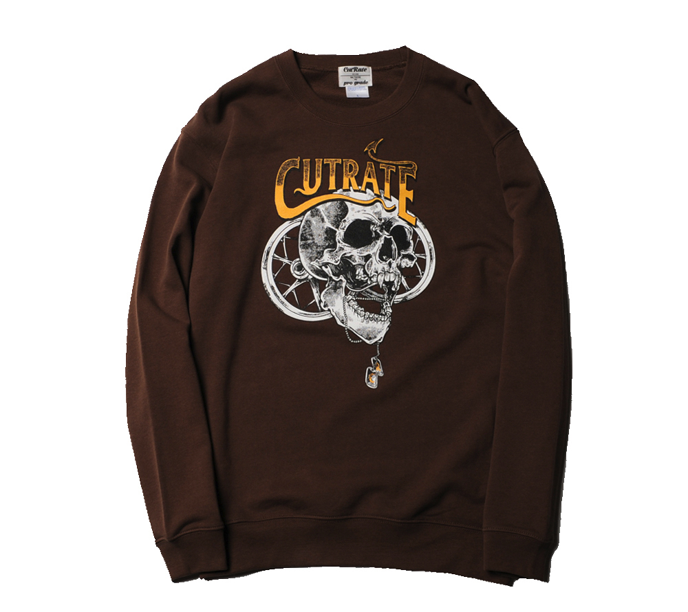 SKULL PRINT SWEAT SHIRT