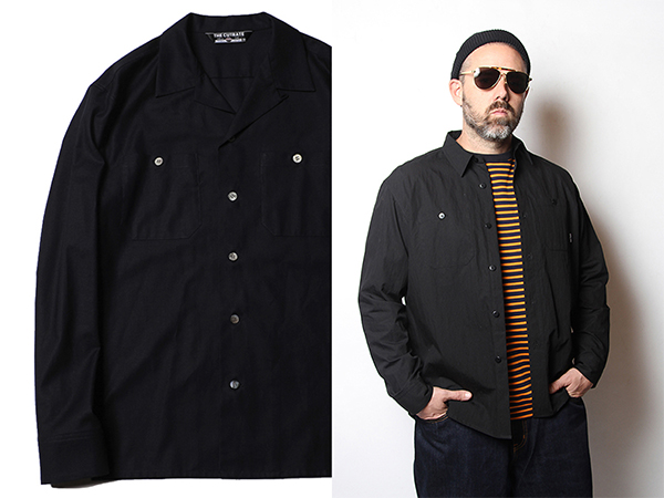 PLANE OPEN COLLAR L/S SHIRT