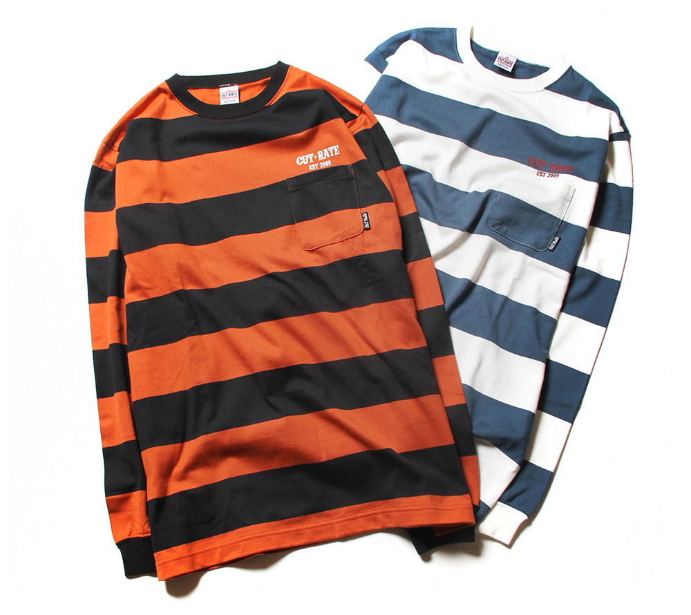 BORDER L/S POCKET T-SHIRT