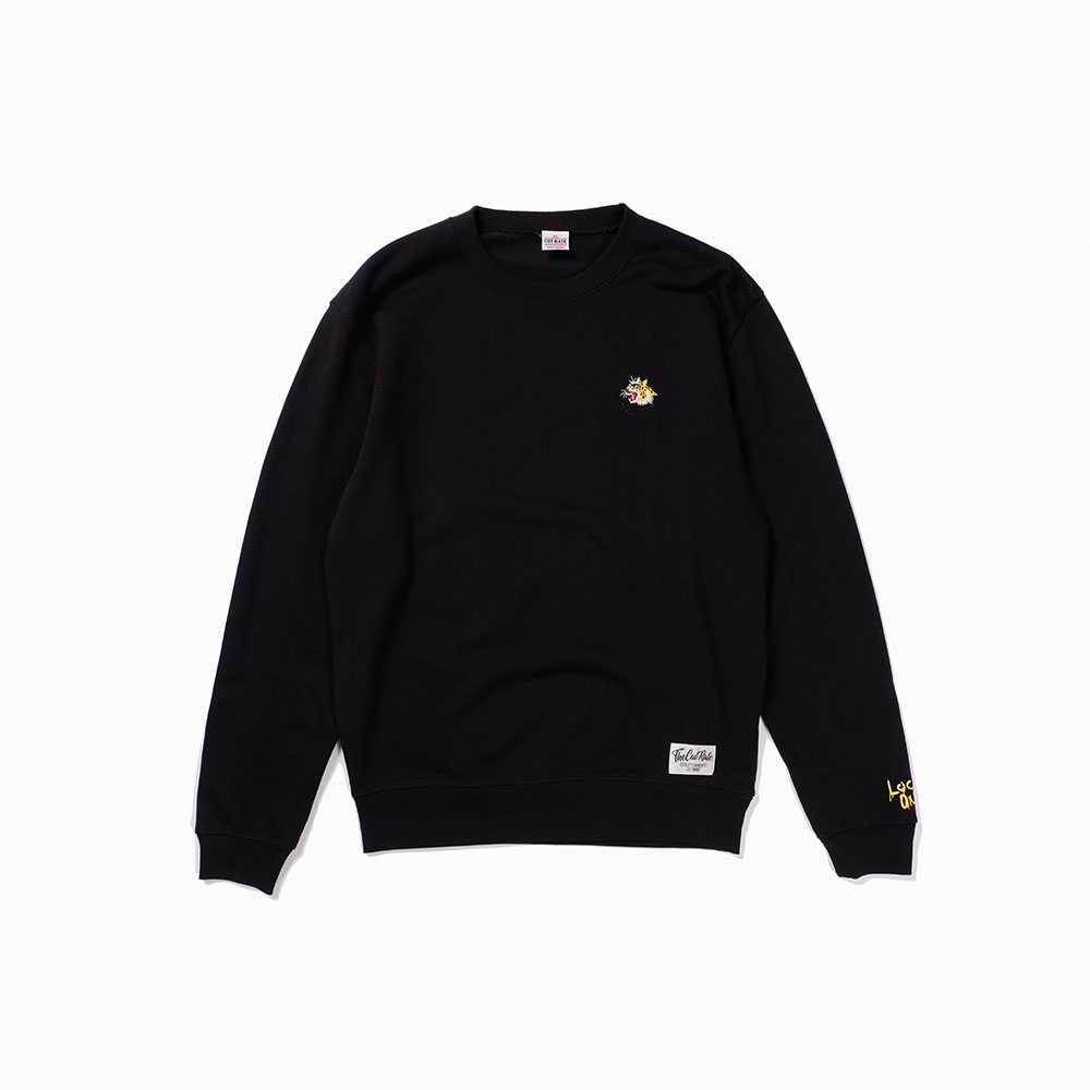 LEOPARD LOG CREW SWEAT