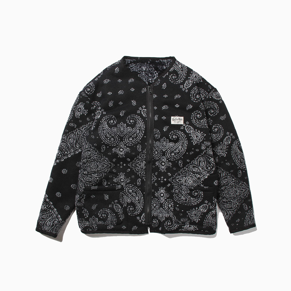 PAISLEY REVERSIBLE BOA JACKET